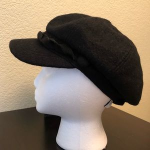 Nine West Women/'s Cotton Canvas Newsboy Cap Hat Blue One Size New NWT